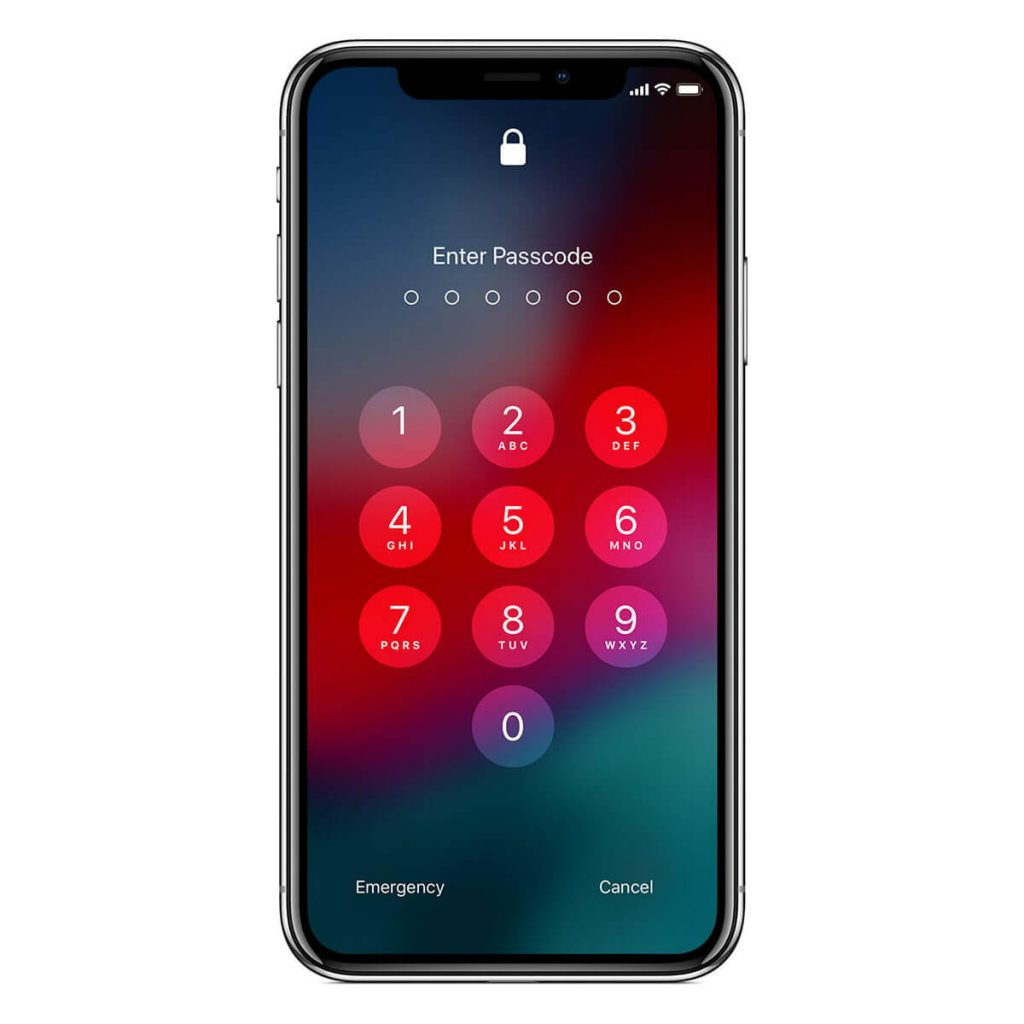 iPhone X Enter Passcode